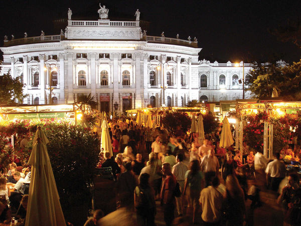 City Hall food circus, Vienna, Austria