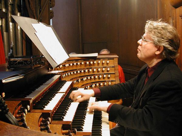 Organist Daniel Roth, St. Sulpice Church, Paris, France