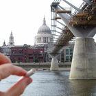 Pipe Stem, Millennium Bridge Construction, London, England
