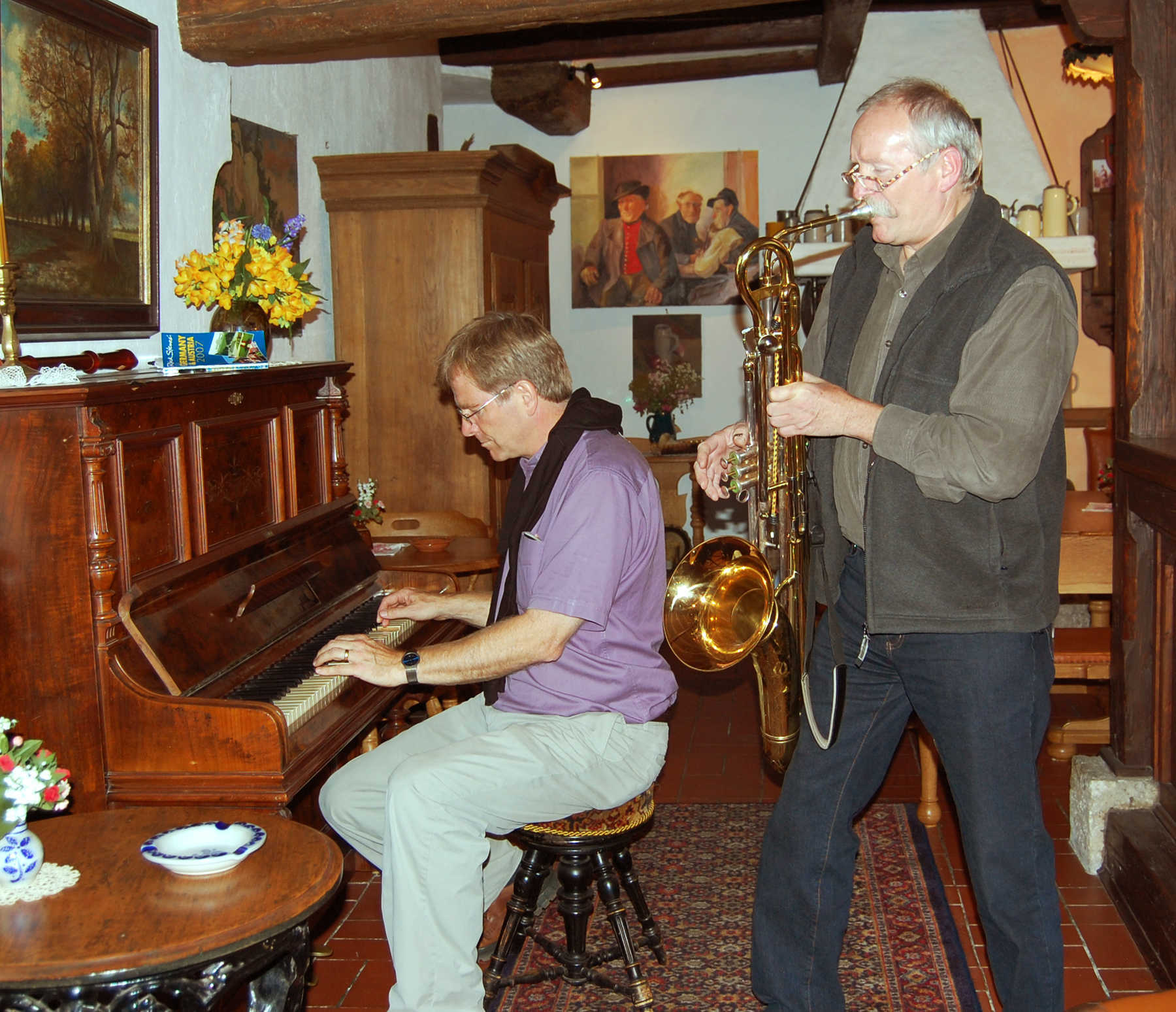 Rick at Piano, Rothenburg ob der Tauber, Germany