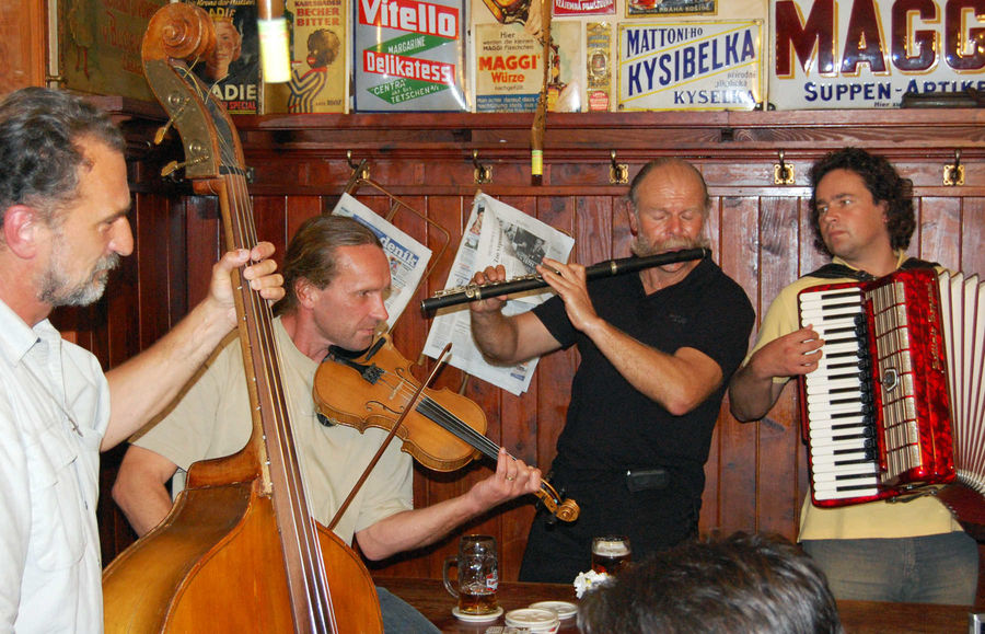 Musicians in Prague, Czech Republic