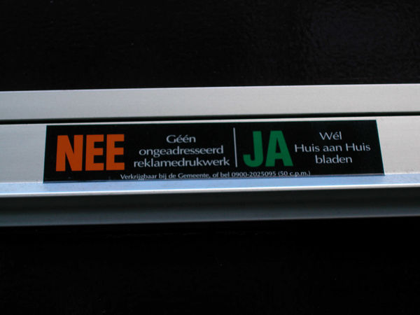 Junk Mail Sign, Netherlands
