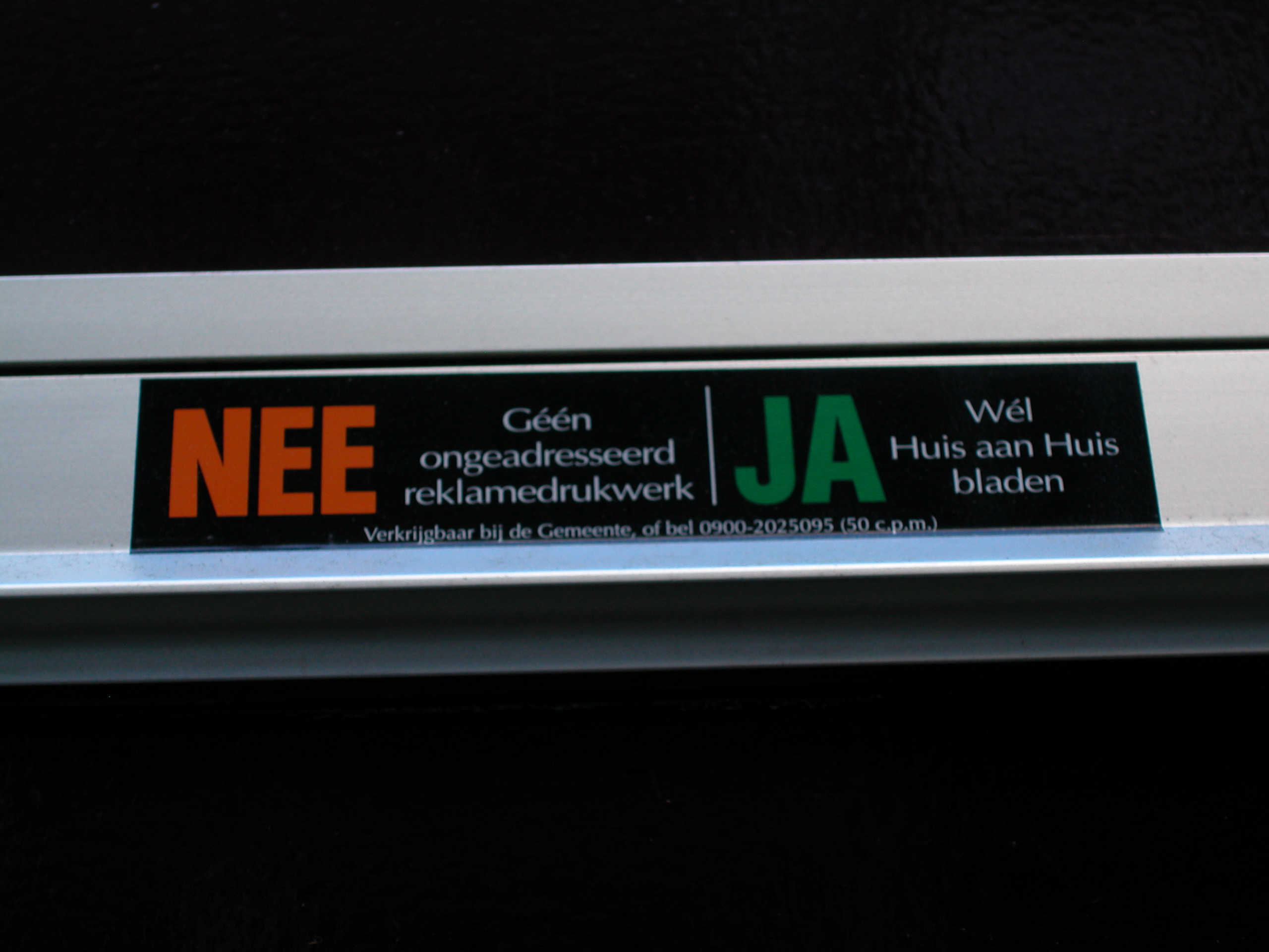 Junk Mail Sign, Netherlands