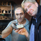 Rick with Goldsmith, Grand Bazaar, Istanbul, Turkey
