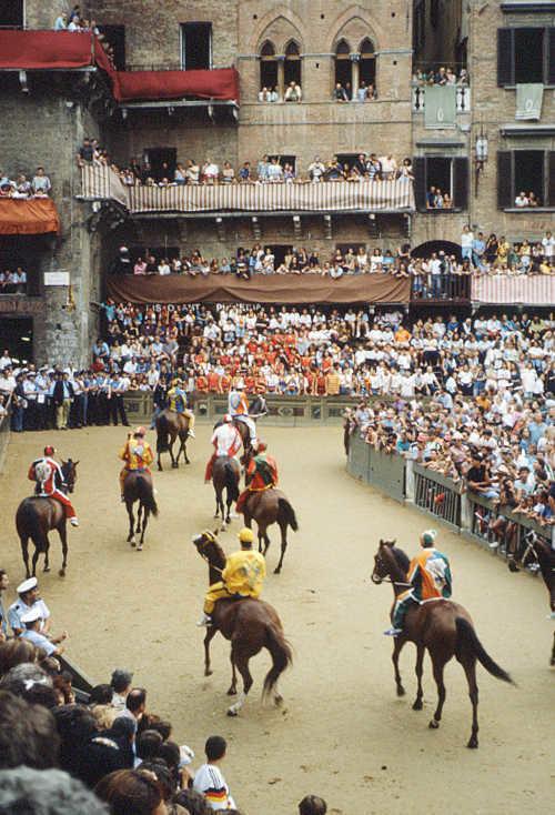 Palio horse race, Siena, Italy