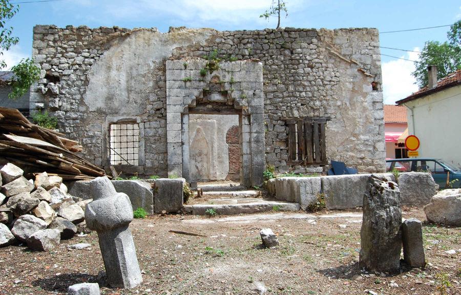 Bombed-out mosque, Nevesinje, Bosnia-Herzegovina