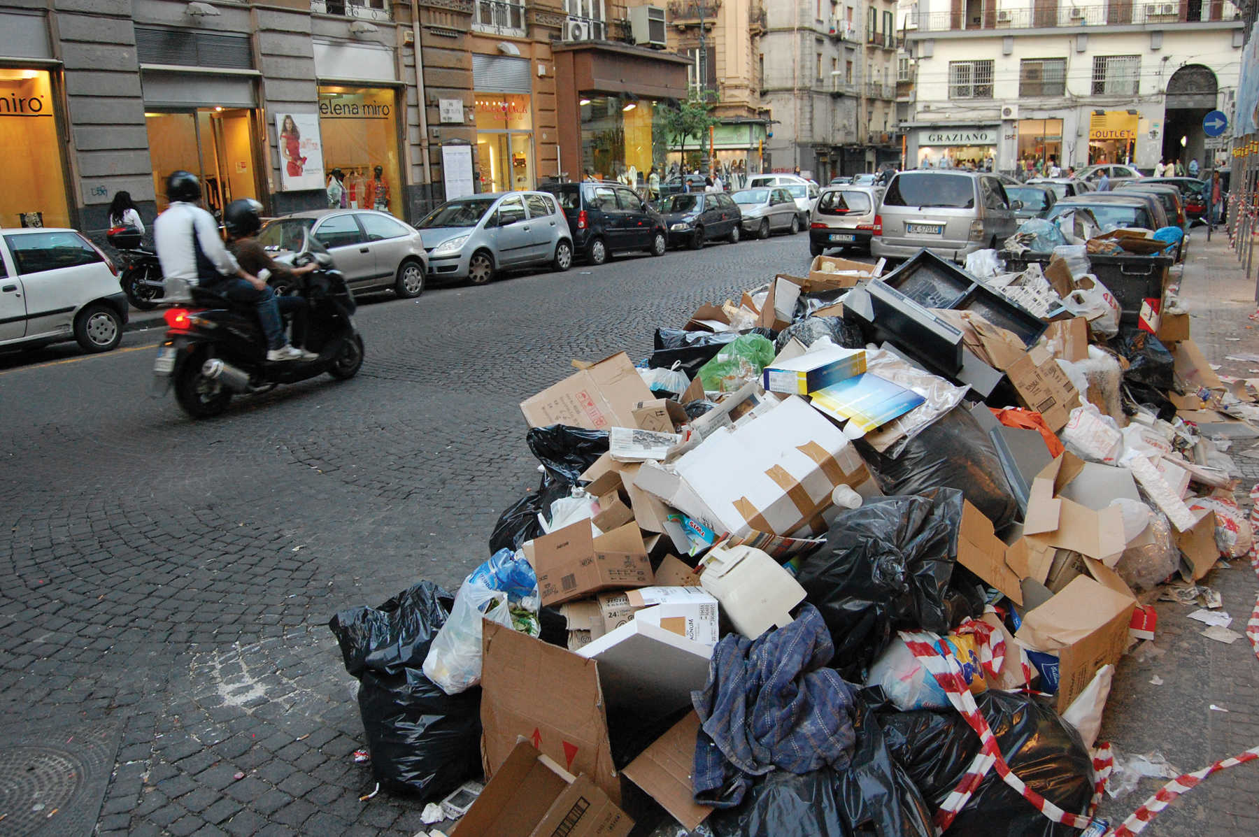 Garbage in Naples, Italy