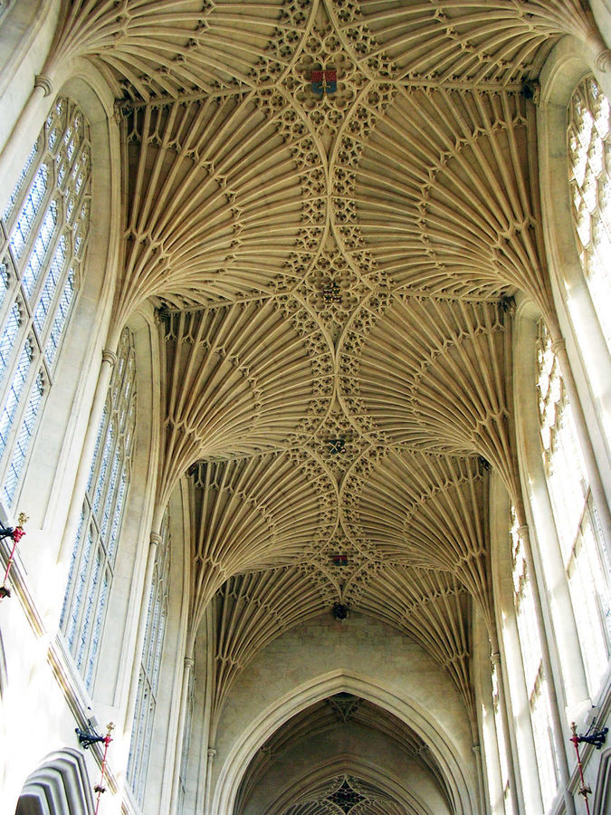 Ceiling of Bath Abbey, Bath, England
