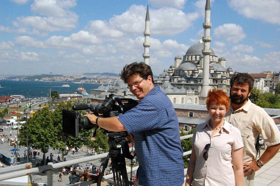 Rick's TV crew, Istanbul, Turkey