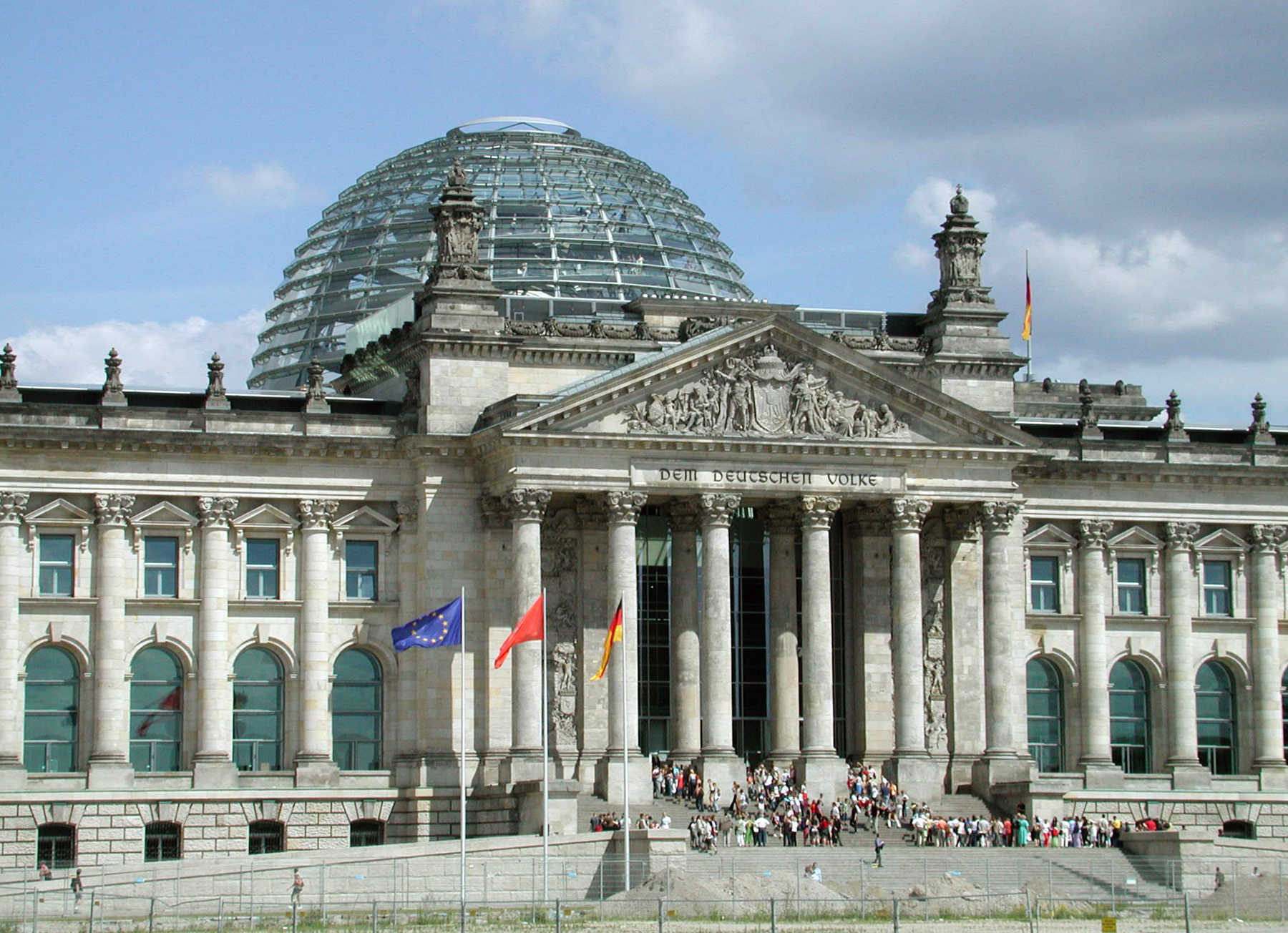 Reichstag Exterior, Berlin, Germany