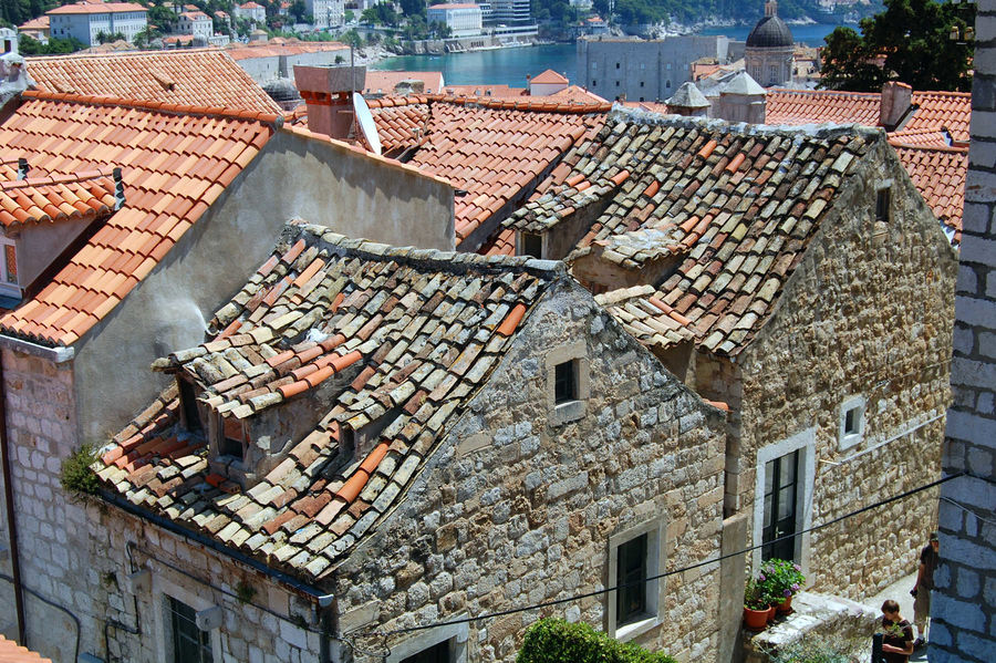 Roof tiles, Dubrovnik, Croatia