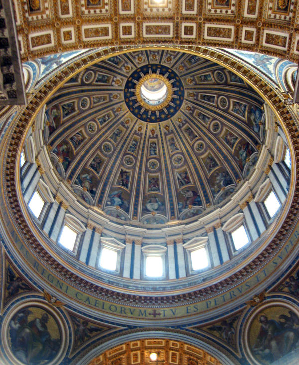 Inside the dome of St. Peter's Basilica, Vatican City, Rome, Italy