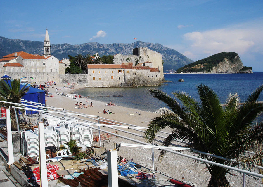 Beach in Budva, Montenegro