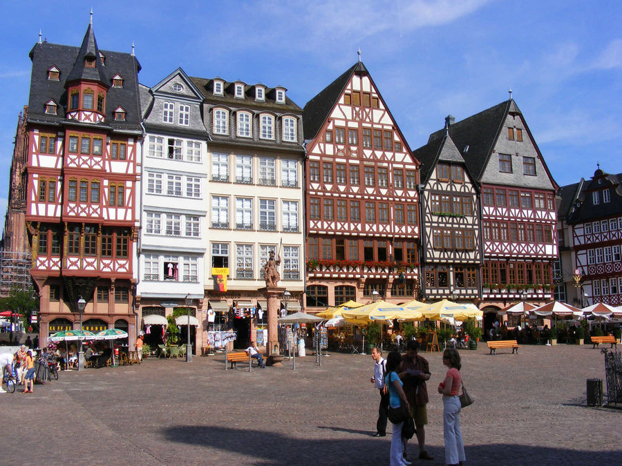 Römerberg square, Frankfurt, Germany