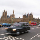 Taxis and Parliament, London, England