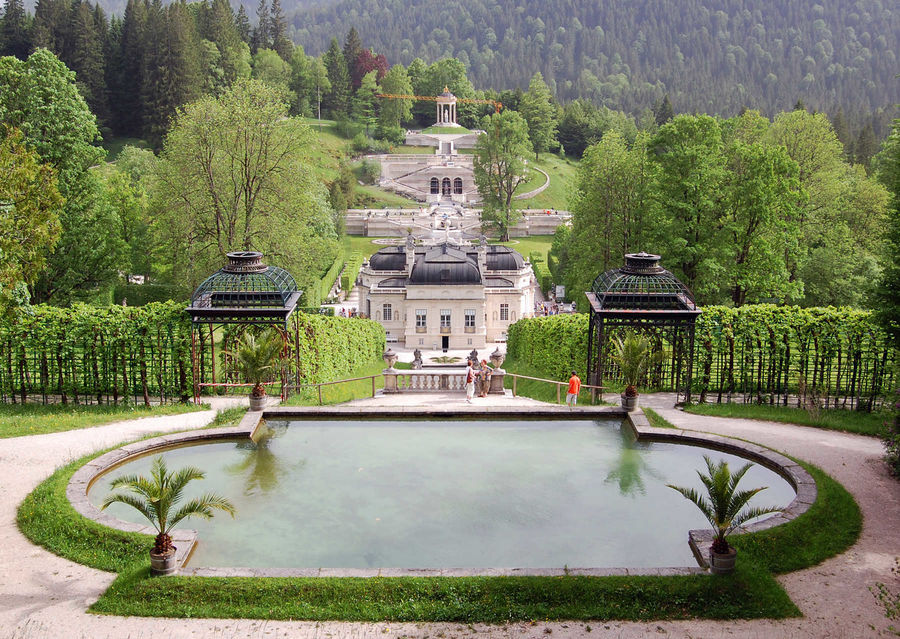Linderhof Castle gardens, Bavaria, Germany