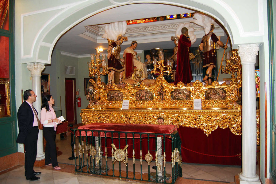 Semana Santa parade float, Sevilla, Spain