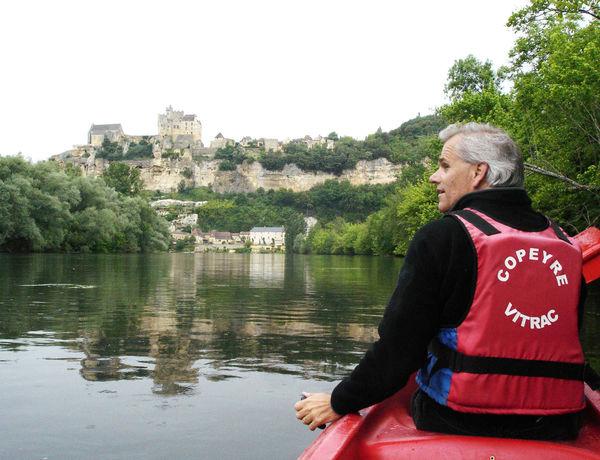 Kayaking at Beynac, Dordogne, France