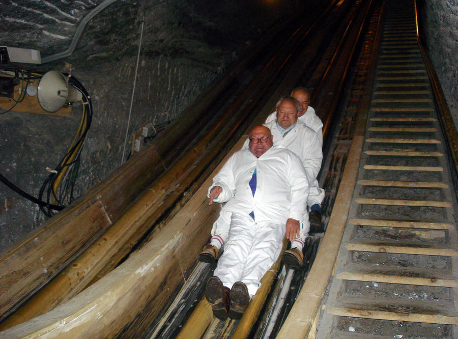 Salt mine slide, Hallstatt, Austria