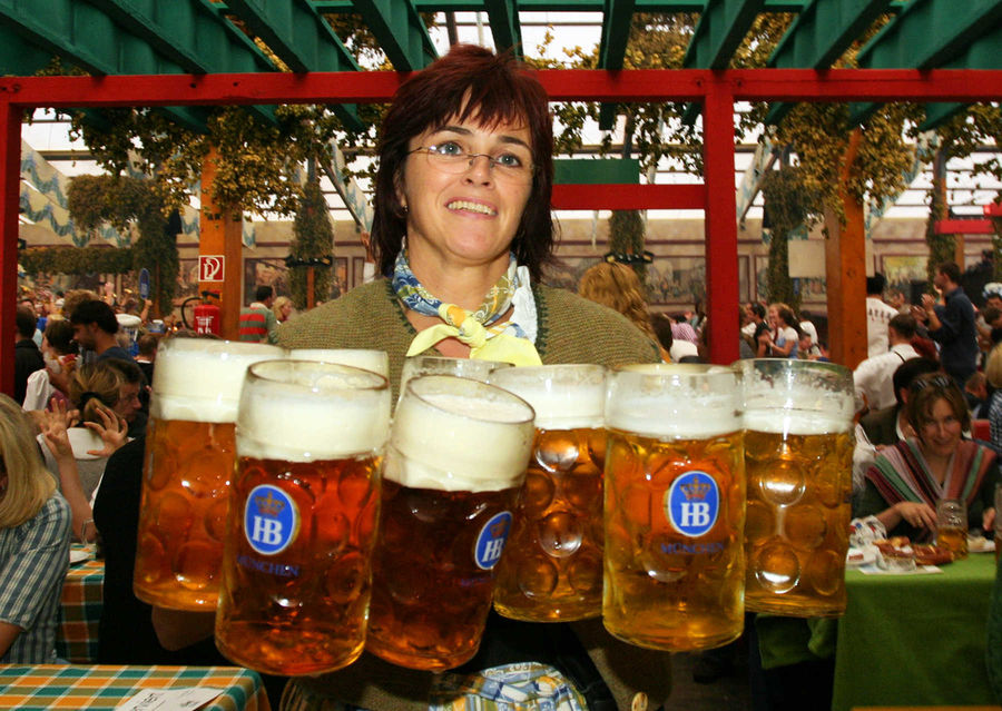 Oktoberfest waitress, Munich, Germany
