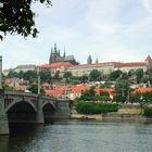 Castle Hill from River, Prague, Czech Republic