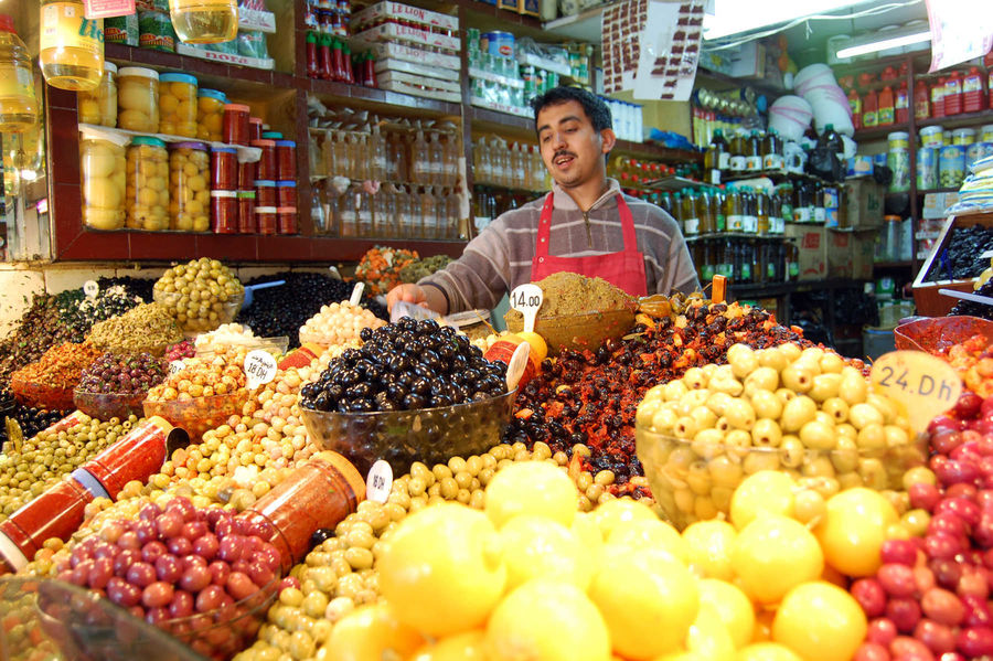 Olive Shop, Tangier, Morocco
