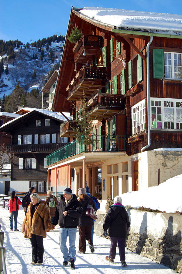 Winter in Mürren, Switzerland