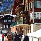 Winter Street Scene, Murren, Berner Oberland, Switzerland