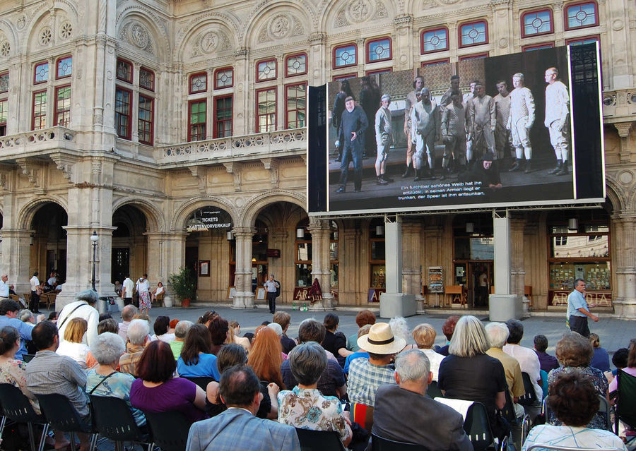 """Live Opera on the Square"" performance, State Opera, Vienna, Austria"