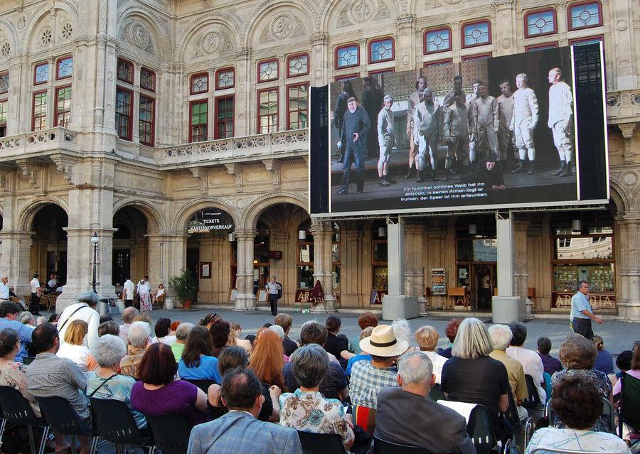 """Live Opera on the Square"" performance, State Opera, Vienna, Austria"