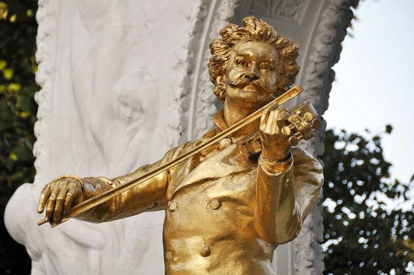 Strauss statue, Stadtpark, Vienna, Austria