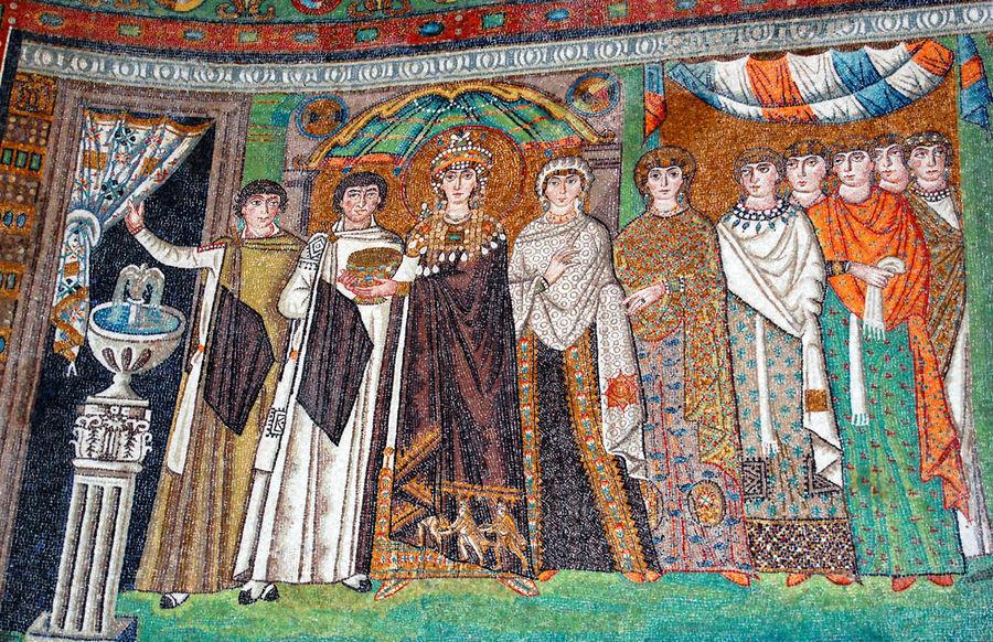 Mosaic of Theodora, Basilica di San Vitale, Ravenna, Italy