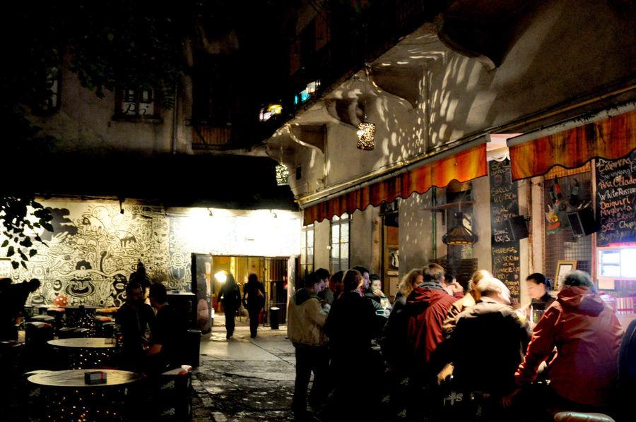 Ruin bar, Budapest, Hungary