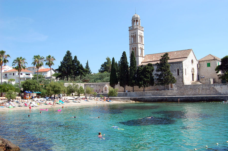 Beach on Hvar, Croatia