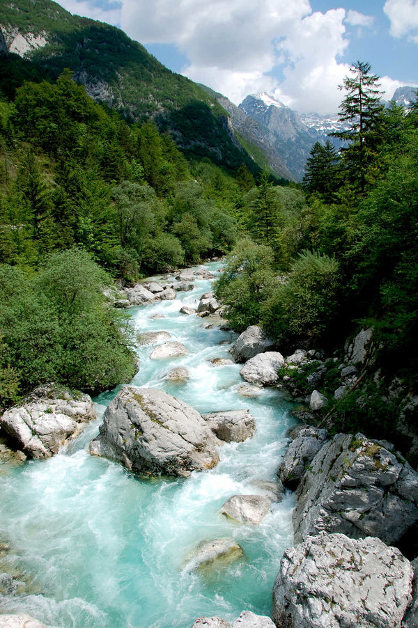 Soča River, Julian Alps, Slovenia