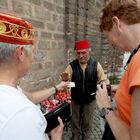 Tourists with Street Vendor, Sultanahmet, Istanbul, Turkey