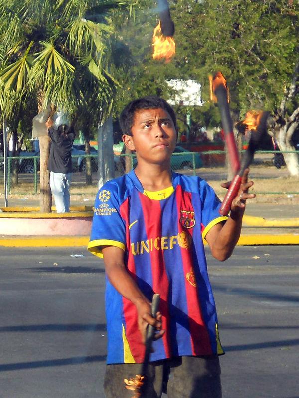 Boy Juggling Fire, Nicaragua