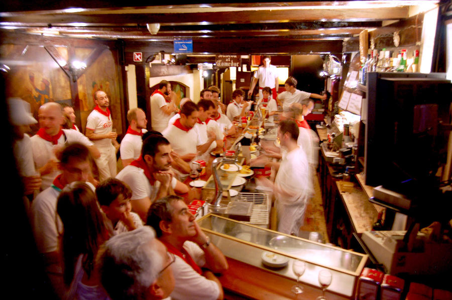 Bar after the Running of Bulls (San Fermín), Pamplona, Spain