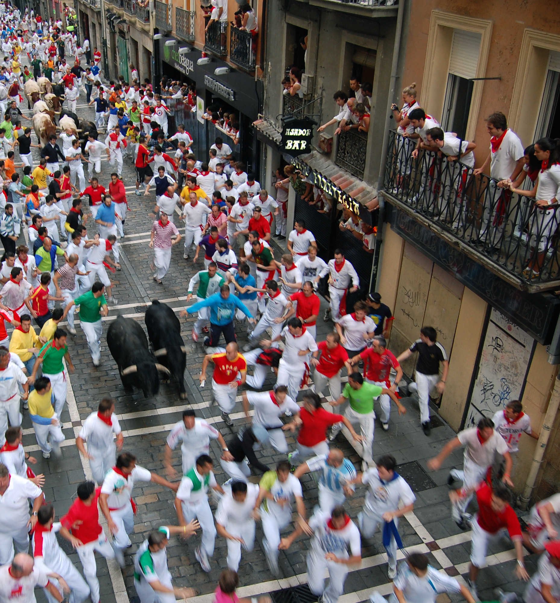 Running of the Bulls, Pamplona, Spain