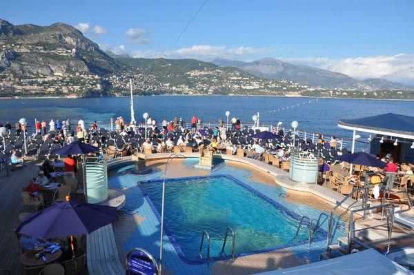 Cruise ship on the Mediterranean