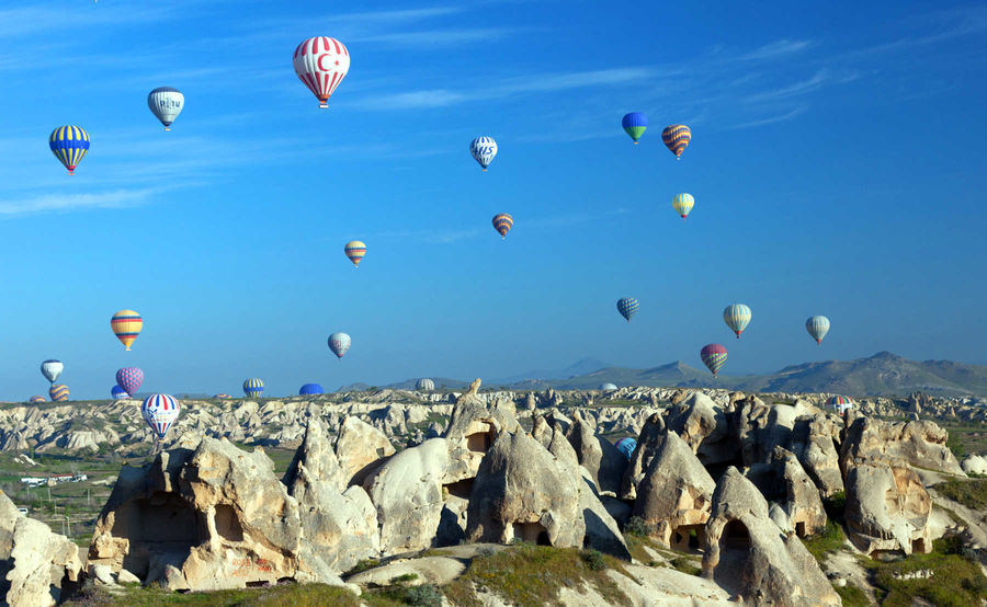 Balloons over Cappadocia, Turkey