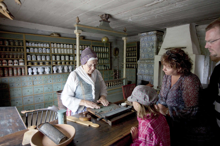 Old-time pharmacy, Skansen Open-Air Folk Museum, Stockholm, Sweden