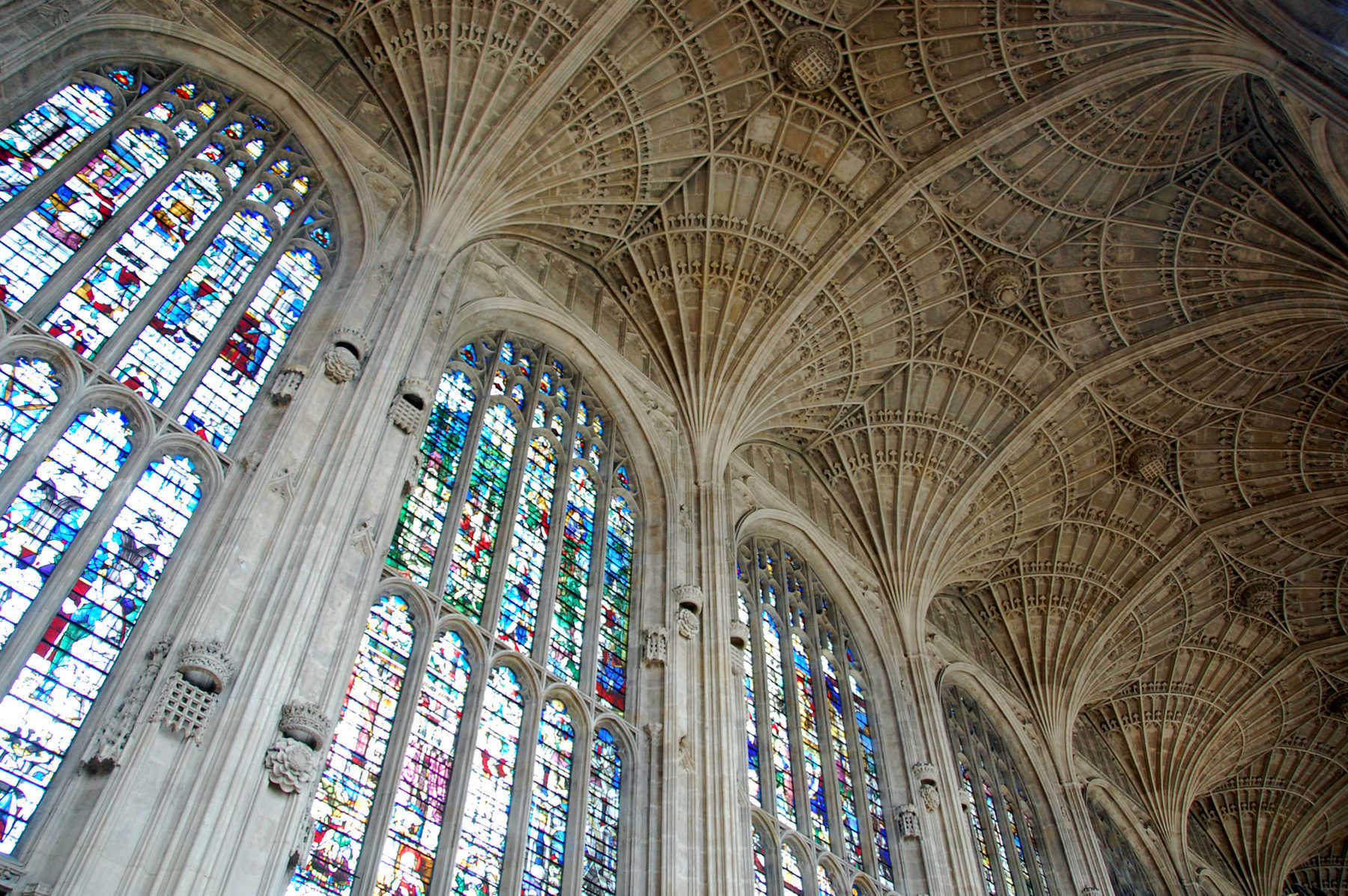 Ceiling of King's College Chapel, Cambridge, England