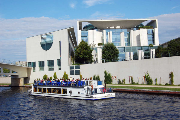 Chancellery and Spree River, Berlin, Germany