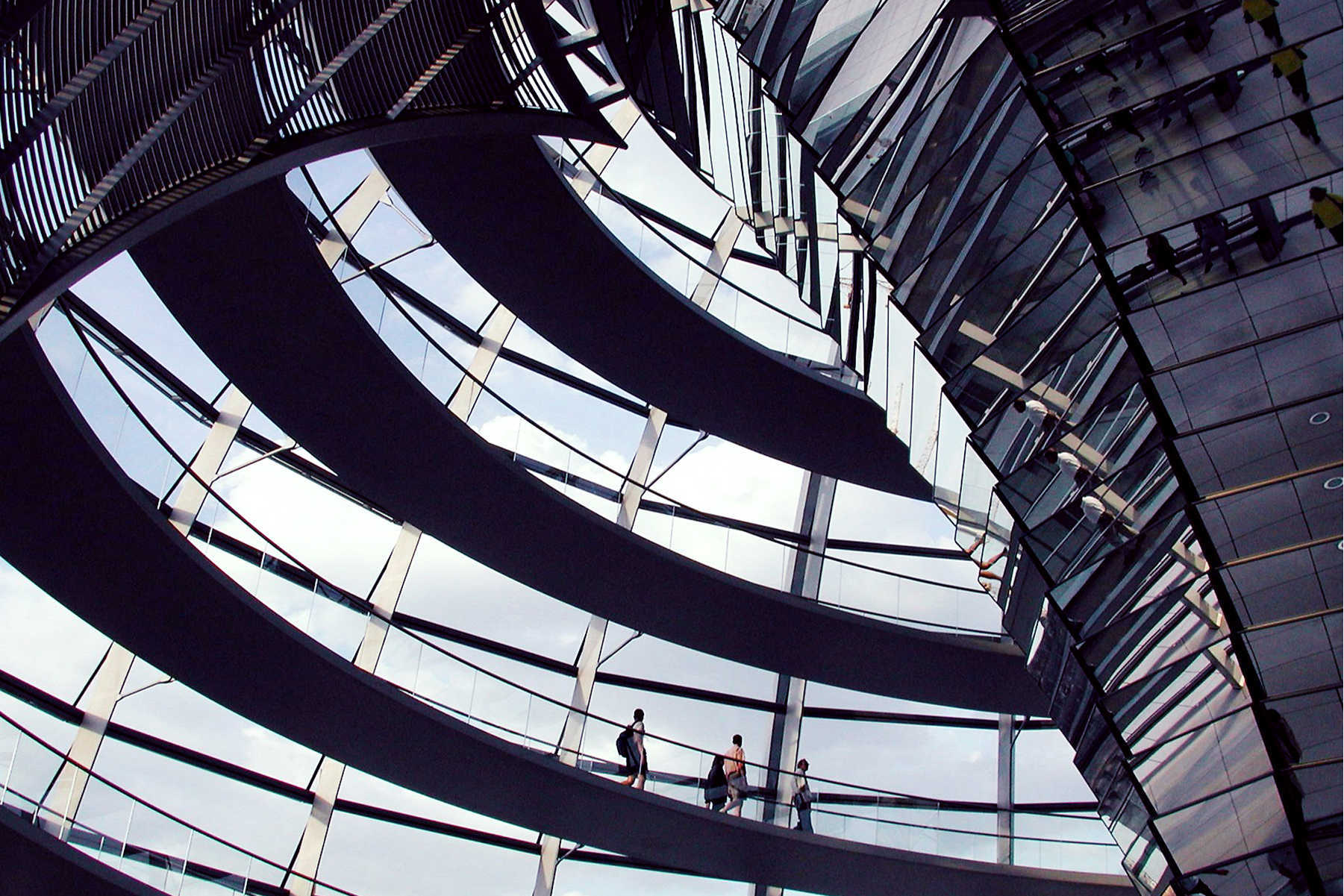 Reighstag Dome Interior, Berlin, Germany
