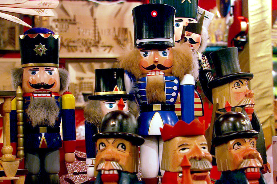 Nutcrackers at Nürnberg Christmas market, Germany