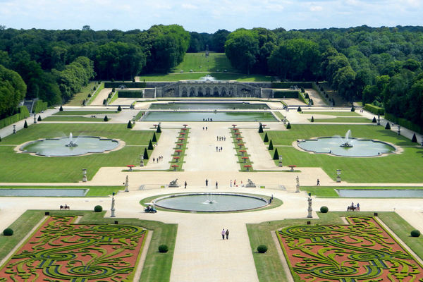 View of Gardens, Vaux-le-Vicomte, France