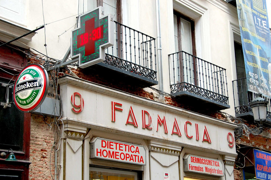 Pharmacy in Madrid, Spain