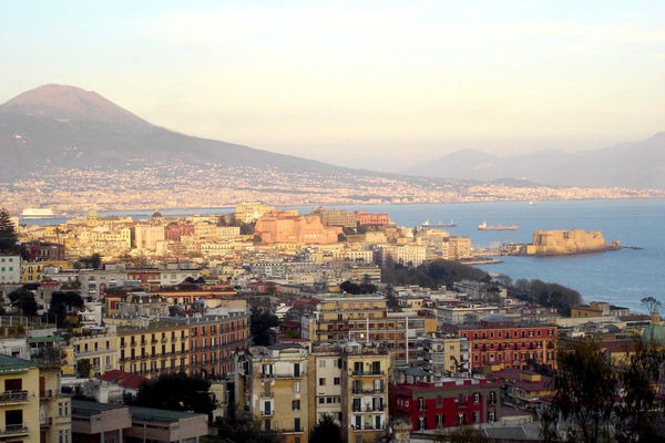 Mt. Vesuvius and Naples, Italy