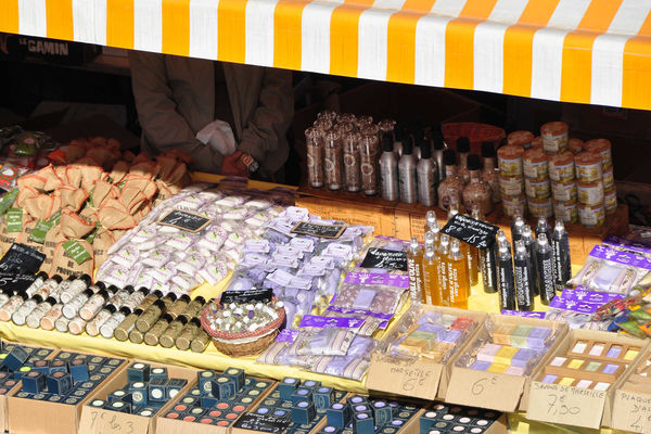 Soap and herbs for sale, Nice, France